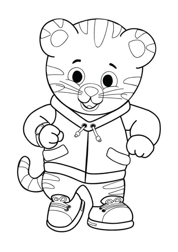print coloring image Daniel tiger, Daniel tiger birthday