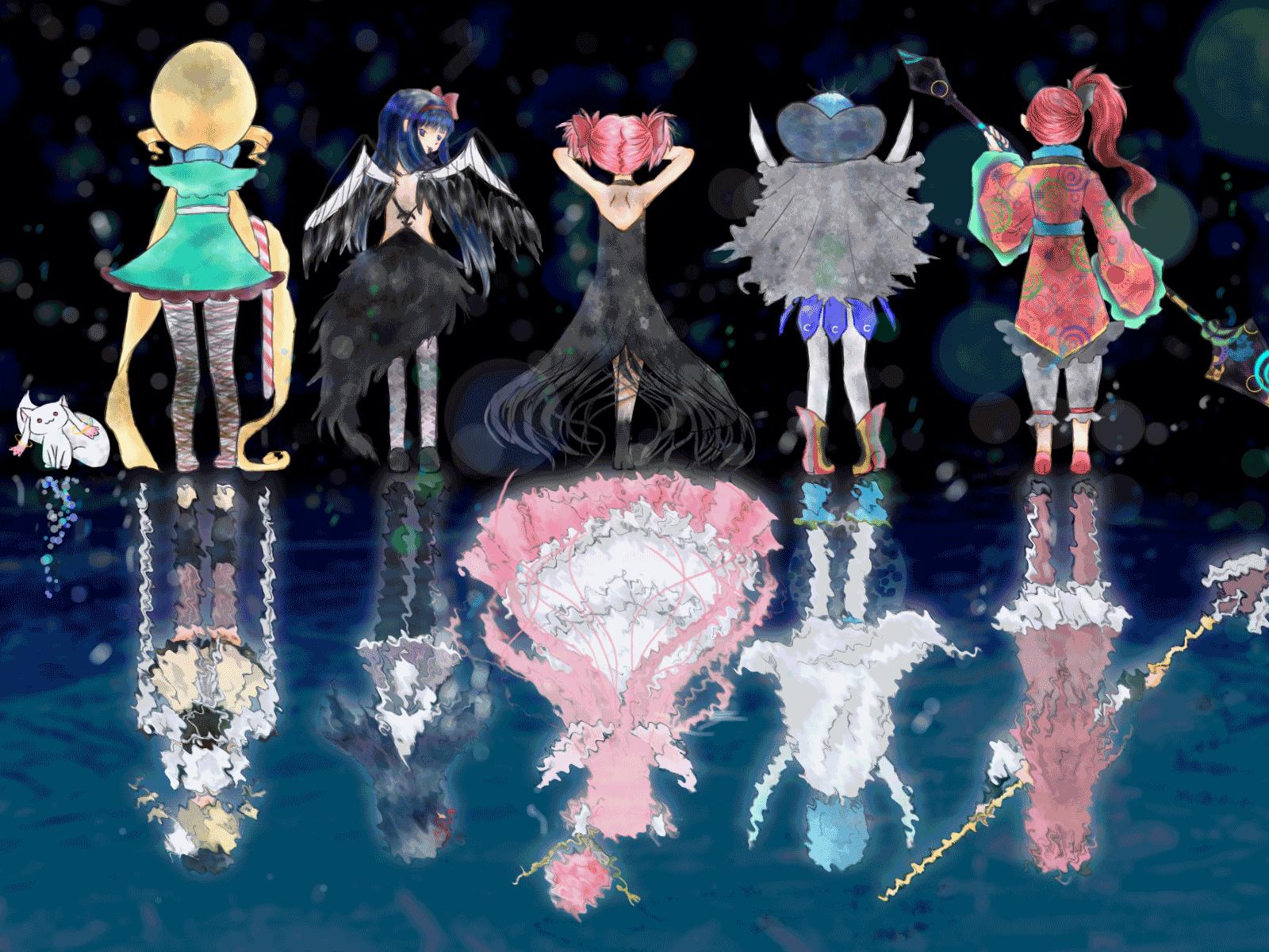 Magica Mobili ~ Puella magi madoka magica all 5 witch and magical girl fitness