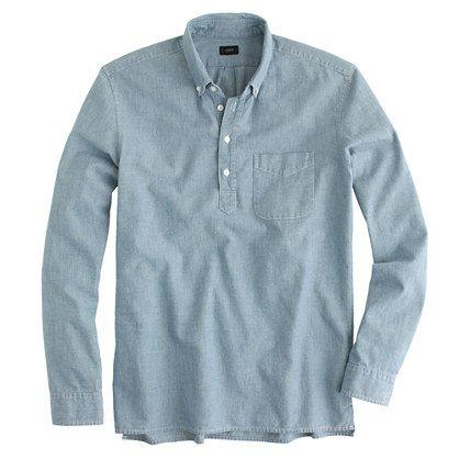 6780069221b Japanese chambray popover - Long-Sleeve Popovers - Men s shirts - J.Crew