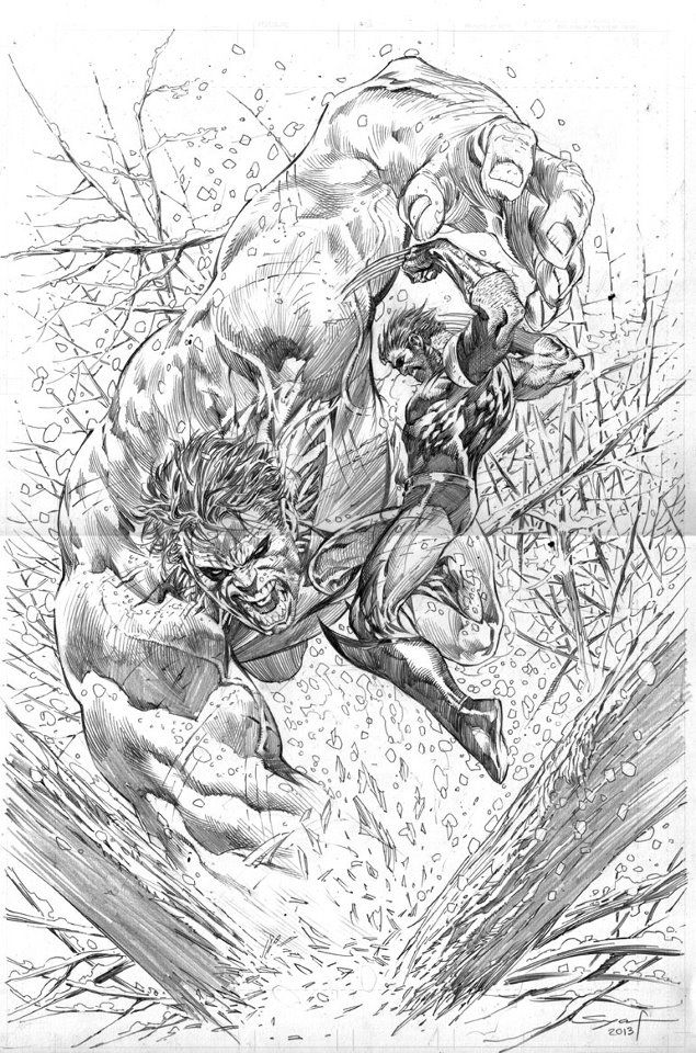 Hulk vs Wolverine - Ardian Syaf Comic Art   Geekdom   Pinterest ...
