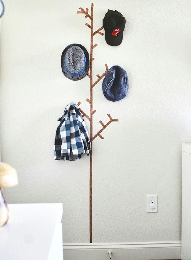 Wände gestalten mit Washi Tape Klebeband decorating ideas