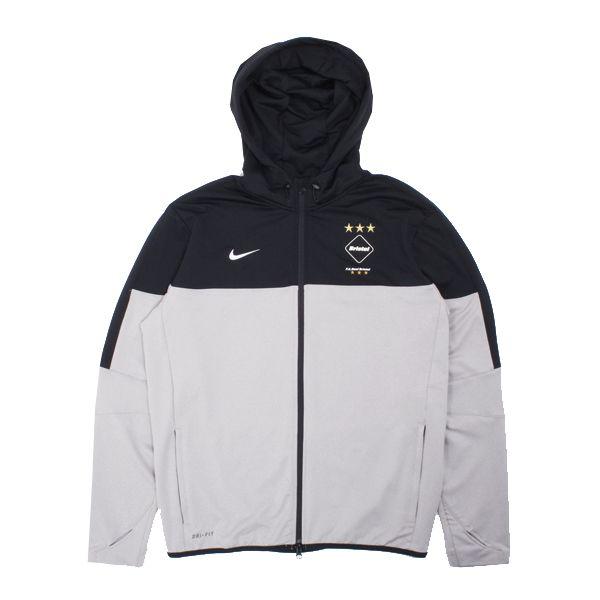 d1ab3f93be Nike F.C.R.B. AS Dri-Fit Knit FZ Hooded Jacket - Classic styling ...