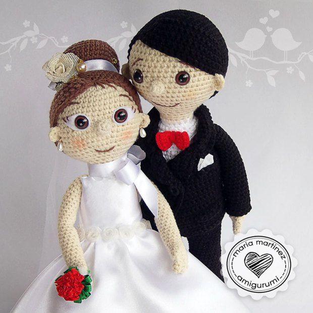 novios crochet patron gratis maria martinez amigurumi | muñecas