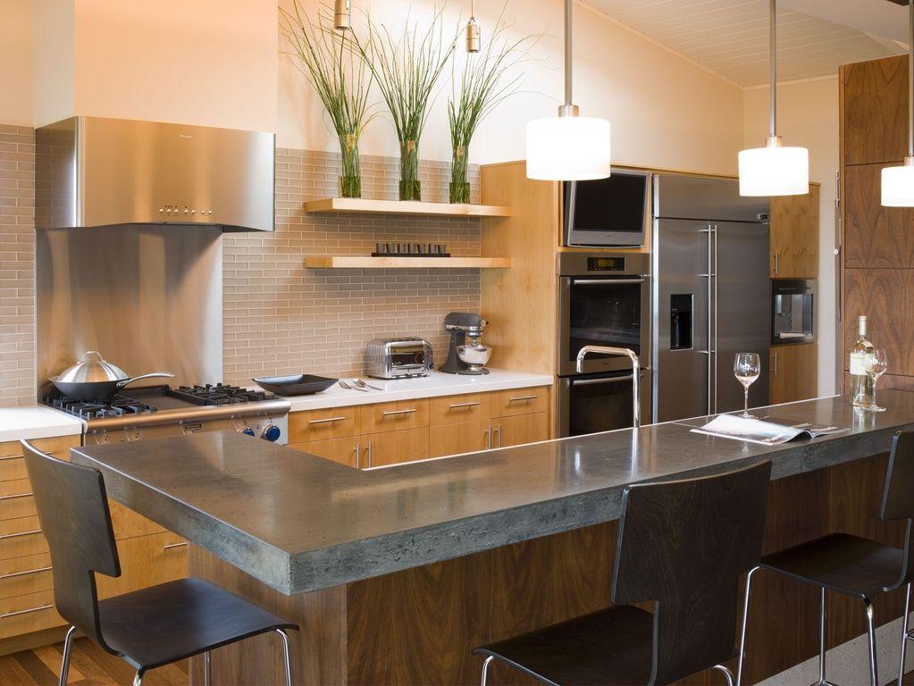 cocina con mesa de barra | Cocinas Modernas | Pinterest | Cocina ...