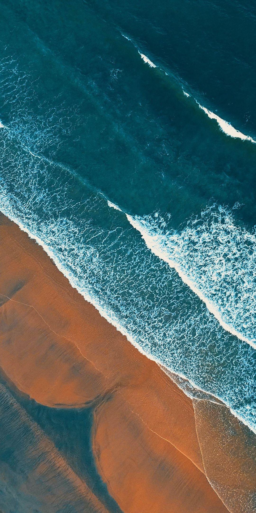 Beach Aerial View Nature 1080x2160 Wallpaper Beach Wallpaper Iphone Aerial View Aerial Nature drone photo sea waves beach