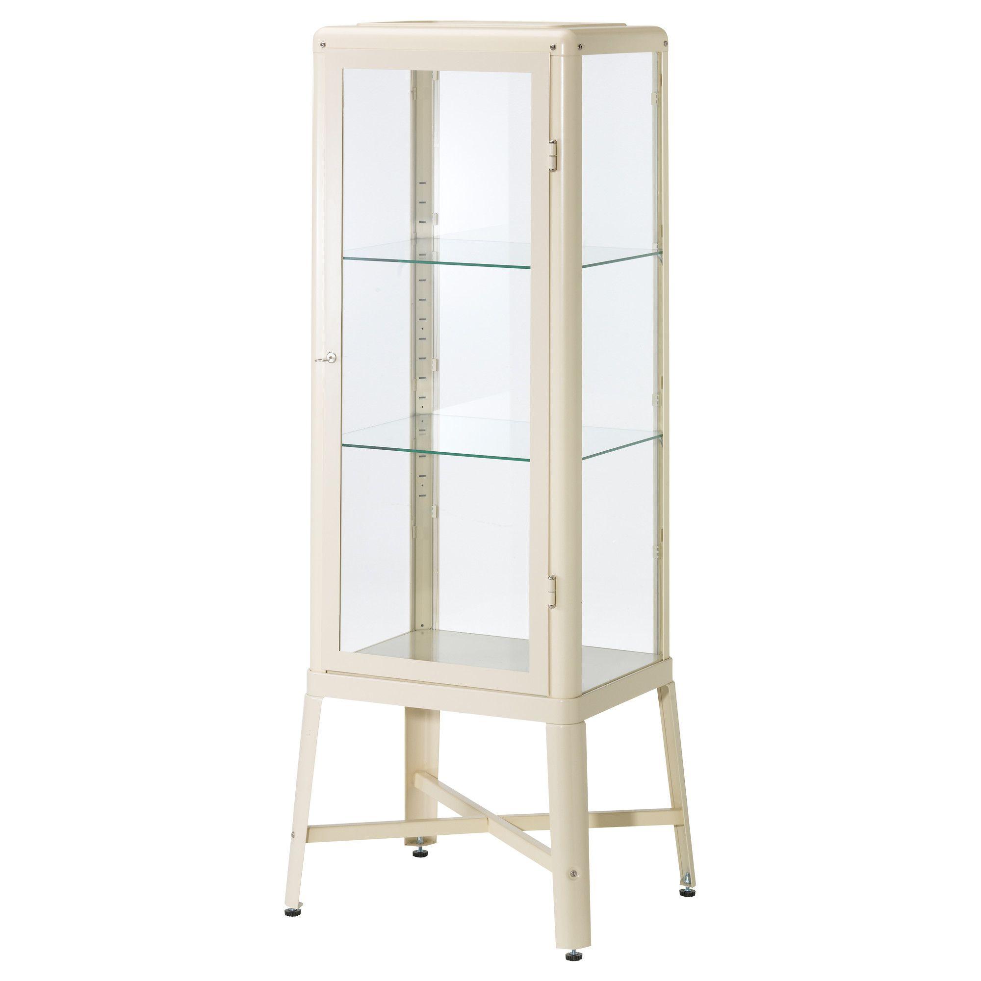 FABRIK–R Glass door cabinet beige