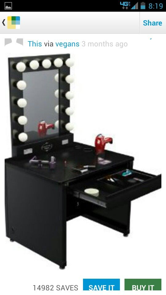 broadway lighted vanity desk broadwy style furniture pinterest