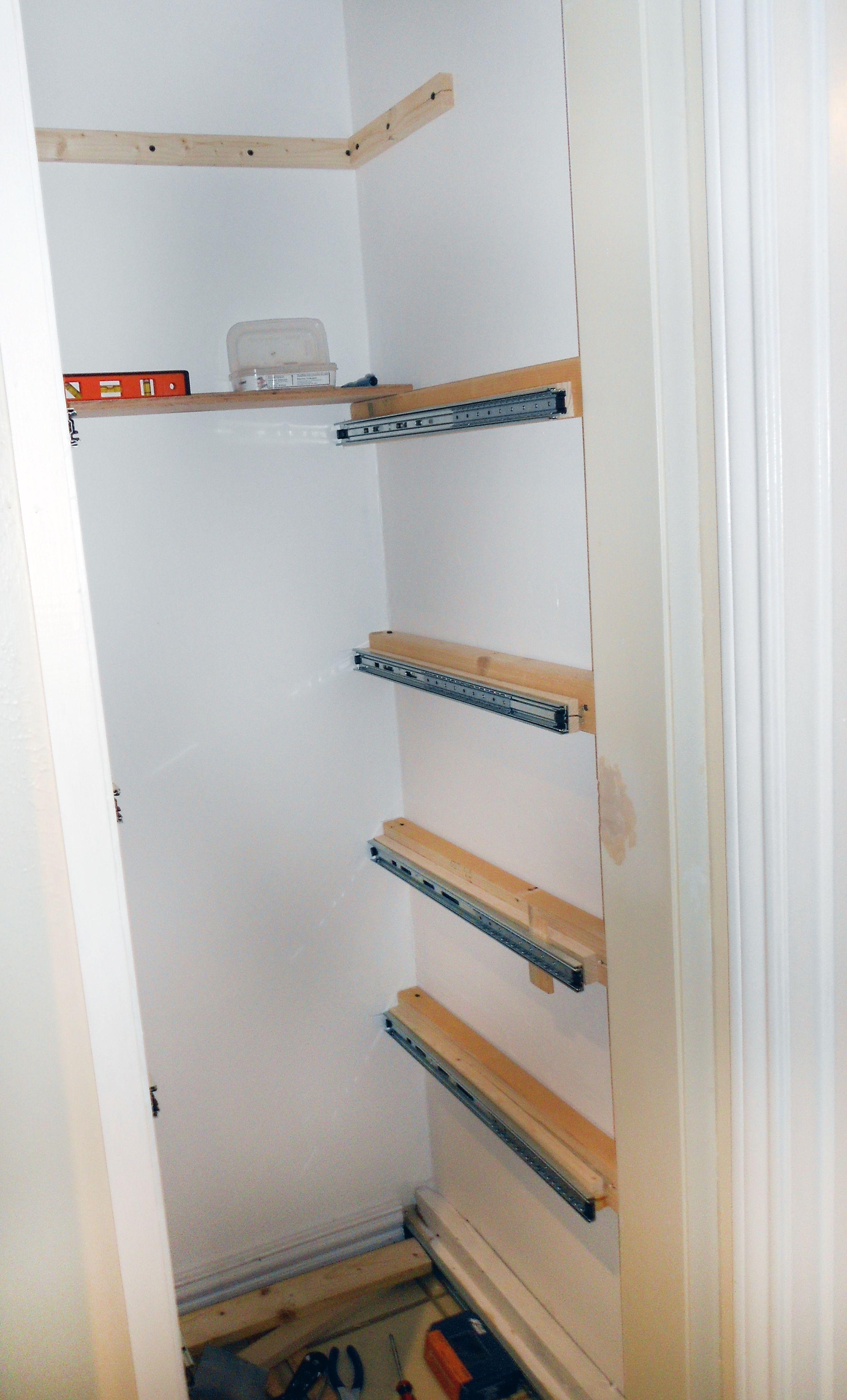 Extended Shelf Life Shelves, Pull out pantry shelves