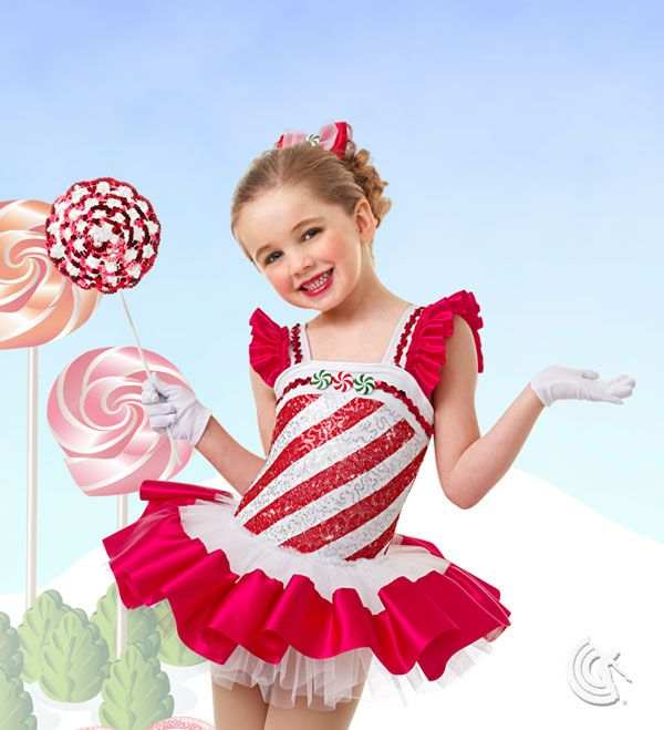 Curtain call costumes peppermint stick winter - Disfraces navidenos para ninas ...