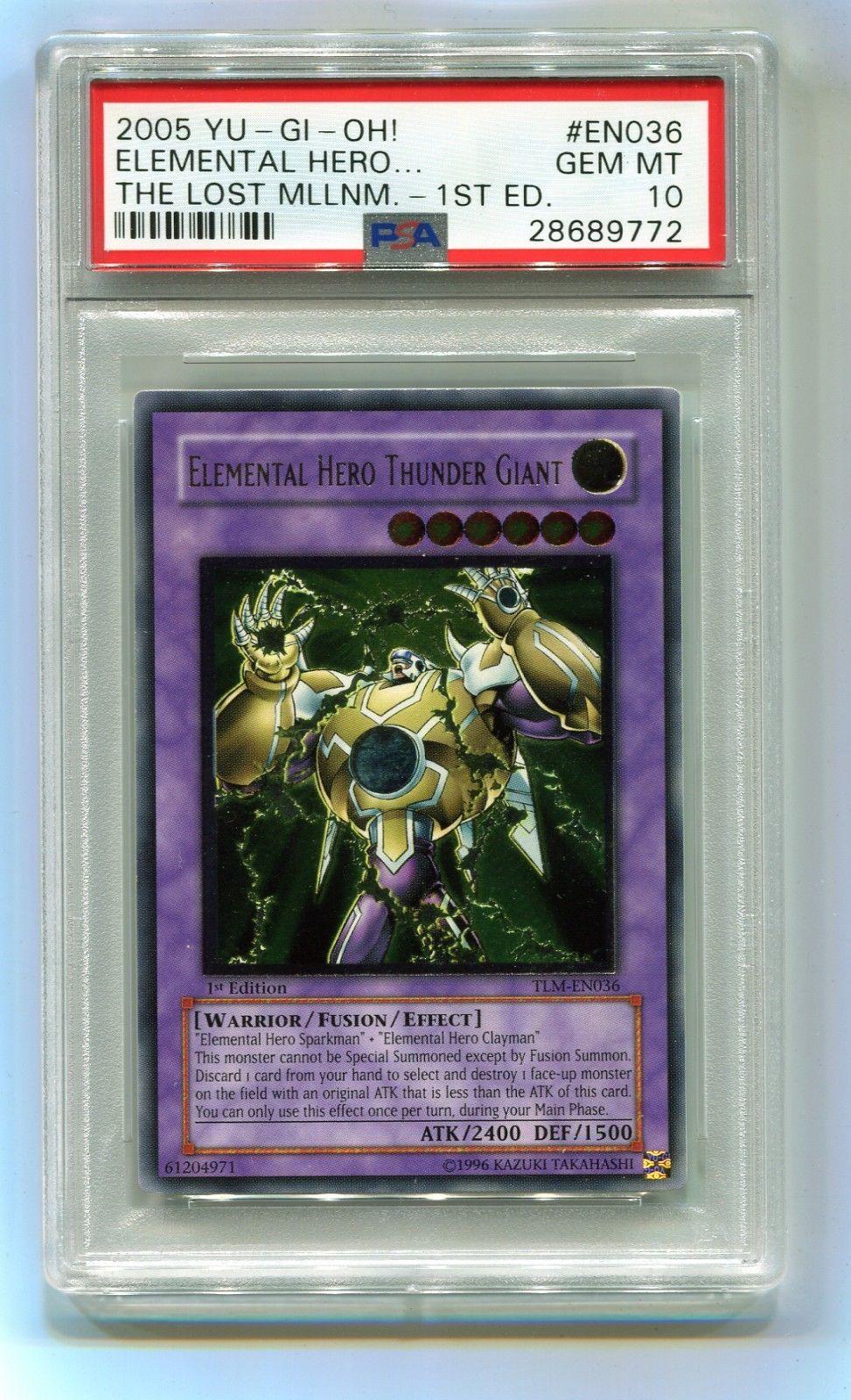 4471073ab6a Yu-Gi-Oh 1st Edition Elemental Hero Thunder Giant Ultimate TLM-EN036 PSA 10  MINT  YuGiOh  TradingCard
