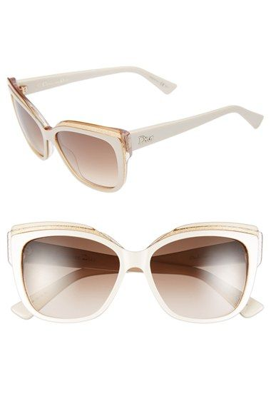 b7187b1371b Christian Dior 56mm Cat Eye Sunglasses available at  Nordstrom