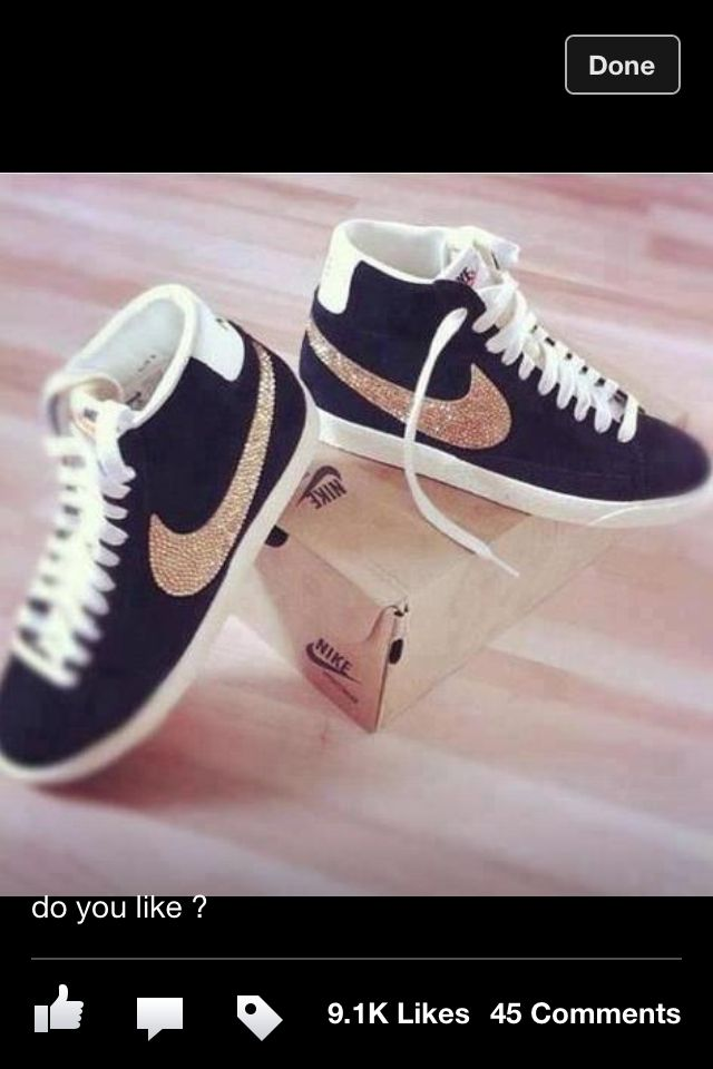Rhinestone Nike's