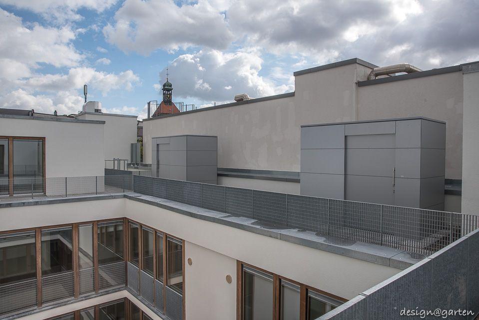 4 Gartenhäuser gart eins XL auf einer Dachterrasse in