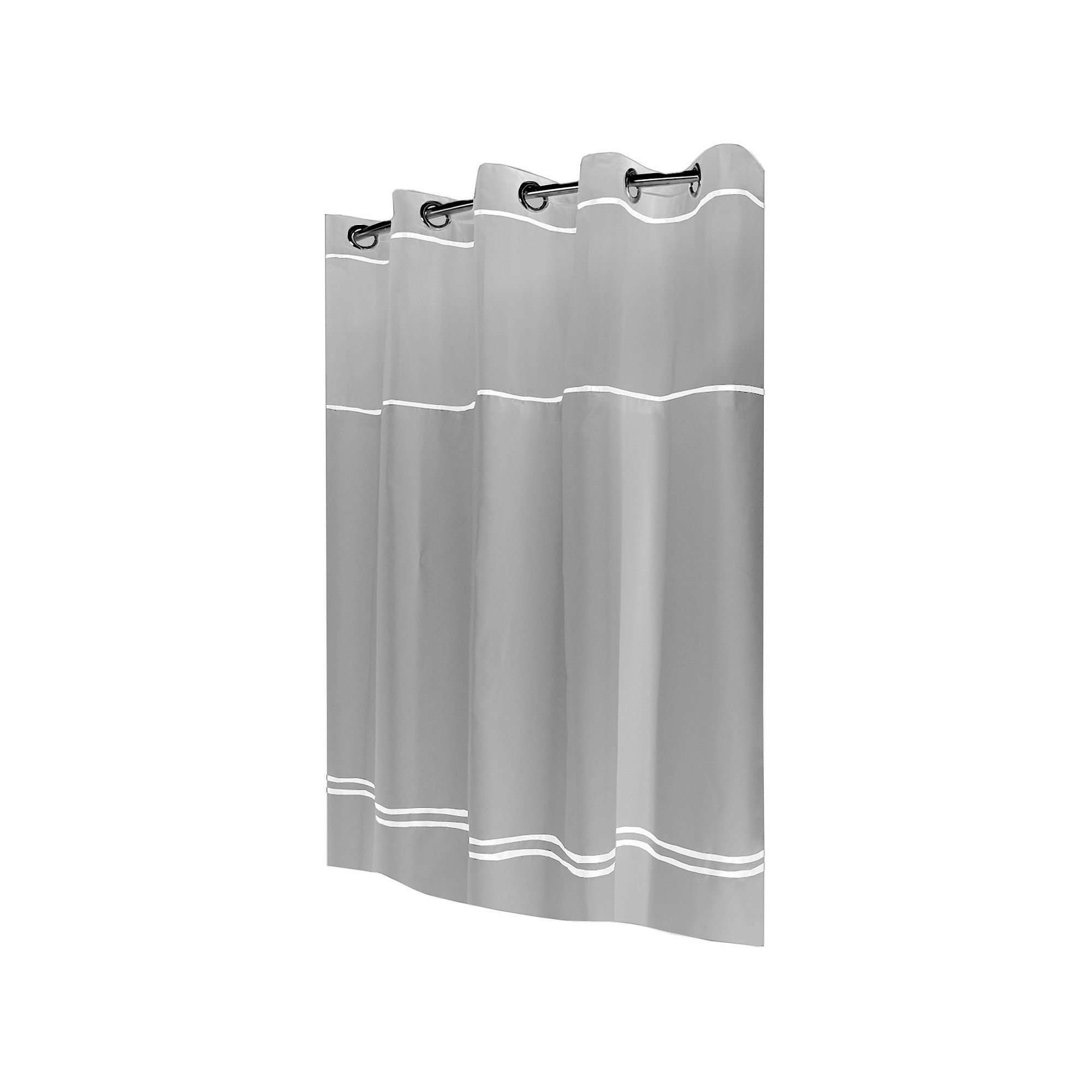 Solid Shower Curtain Gray Hookless Hookless Shower Curtain