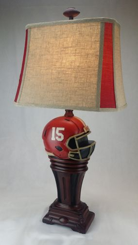 Support Your Favorite Team With This Jenkins Lamp 33 Inch Standard Size Linen 2 Color Shade The Highest Of Quality For A Table