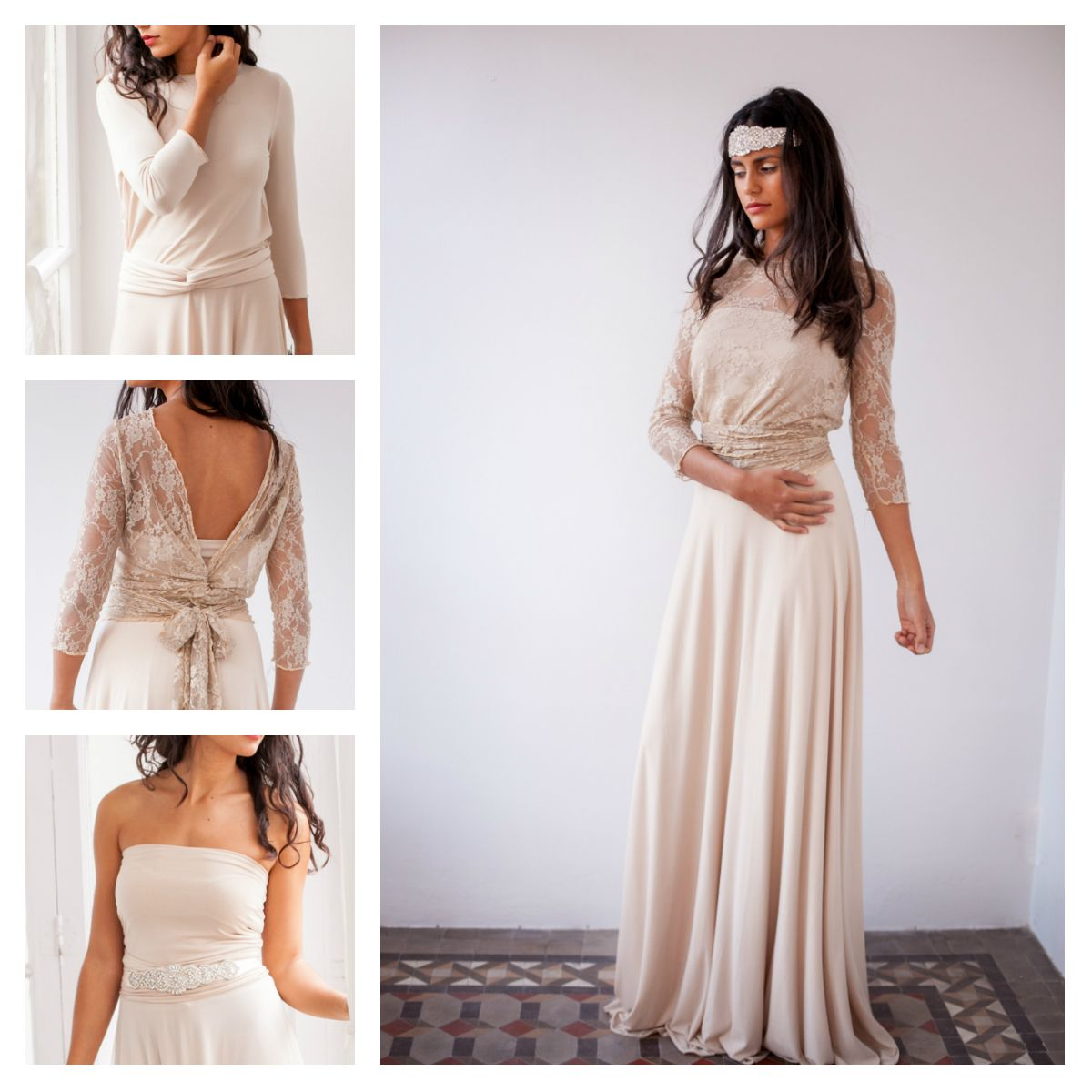 Bride in a hurry find your perfect wedding dress beige wedding