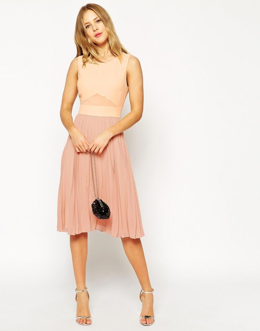 Image 1 of asos sheer and solid pleated midi dress closet image 1 of asos sheer and solid pleated midi dress ombrellifo Gallery
