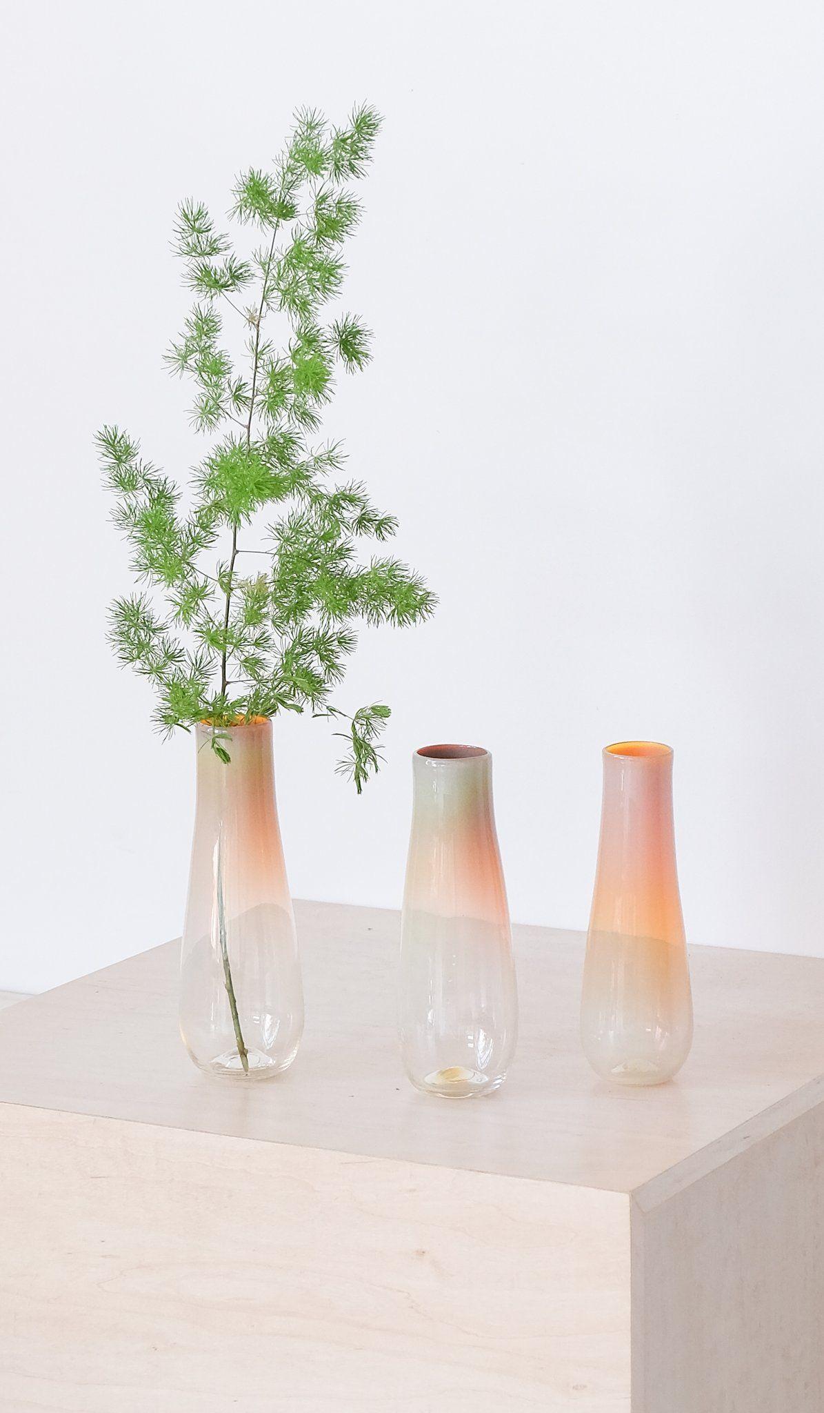 Opalescent Hand Blown Glass Vase | Blown glass