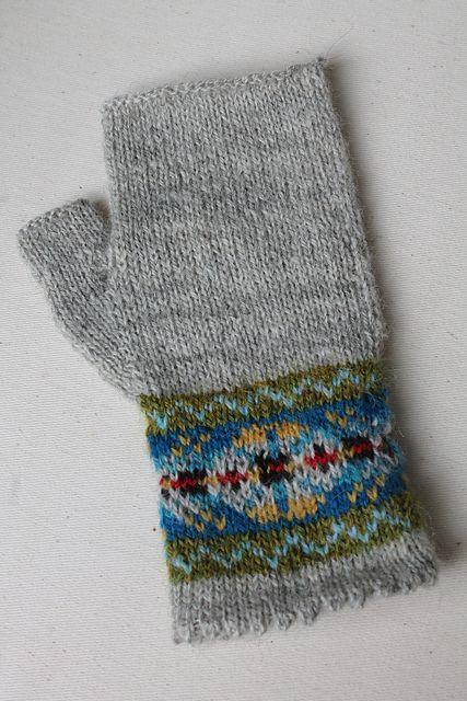 Ravelry: Grey Fair Isle Mitts pattern by Helen Gray Designs ...