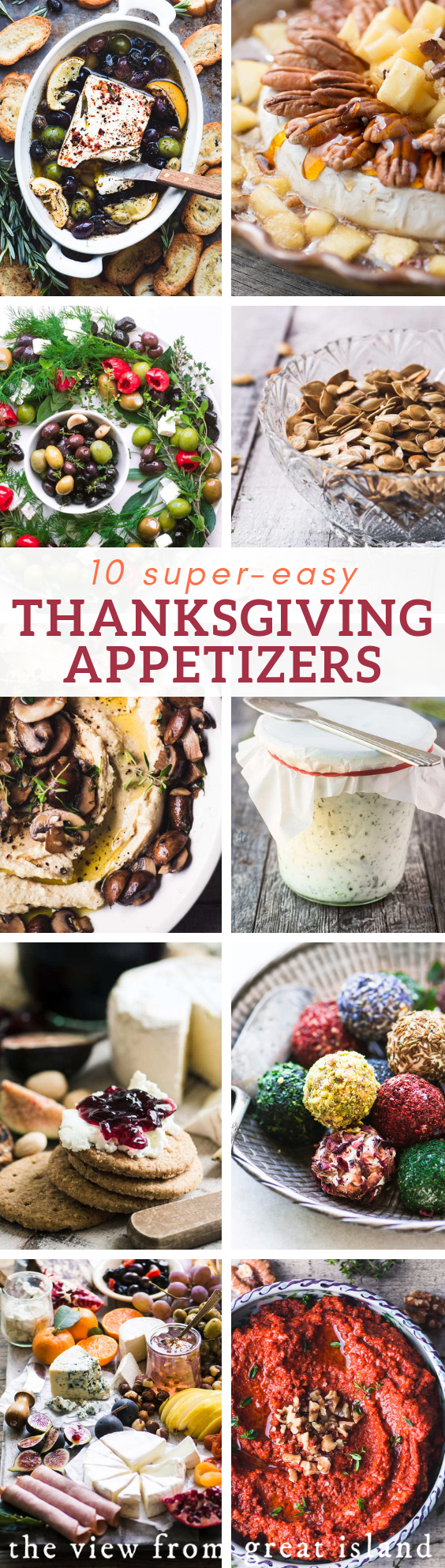 10 Super Easy Thanksgiving Appetizers ~ you've got the menu all set, the turkey, the fixings, the d