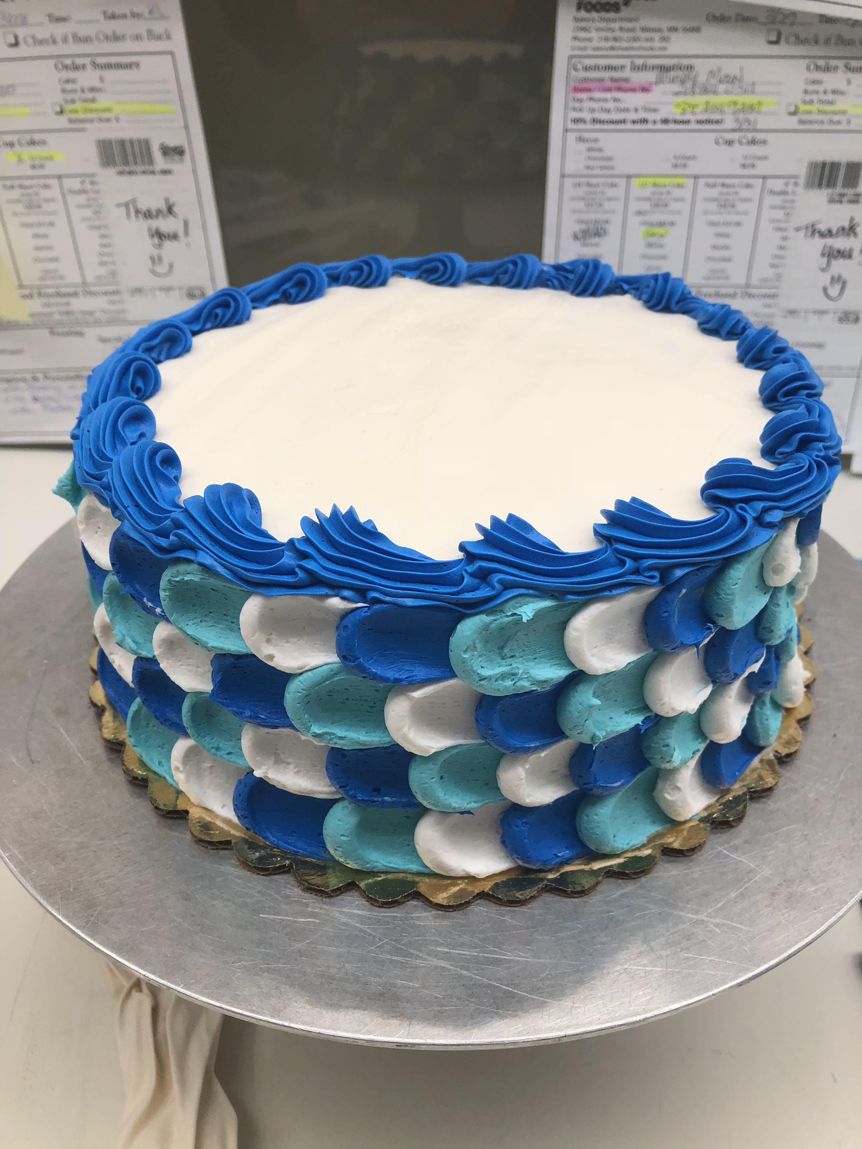 Blue Themed Birthday Cake Kkscakes Cool Birthday Cakes Blue
