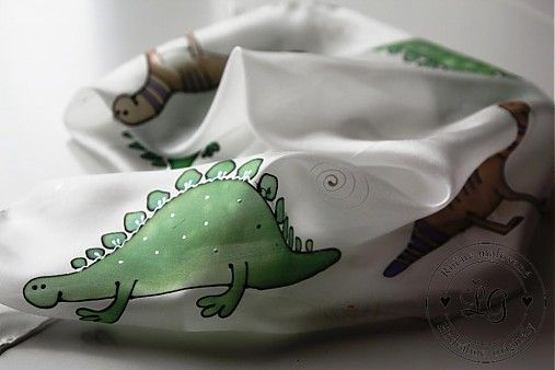 LGhodvab / detská šatka s dinosaurami