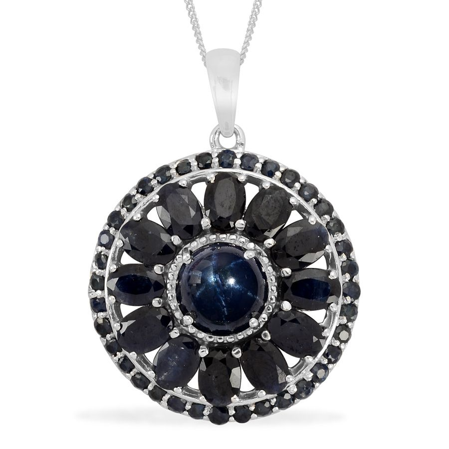 Liquidation channel thai blue star sapphire midnight blue sapphire liquidation channel thai blue star sapphire midnight blue sapphire and kanchanaburi blue sapphire pendant with chain in in platinum overlay sterling aloadofball Choice Image