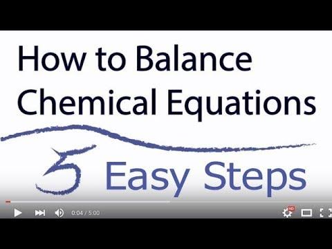 Balancing Simple Chemical Equations This method works