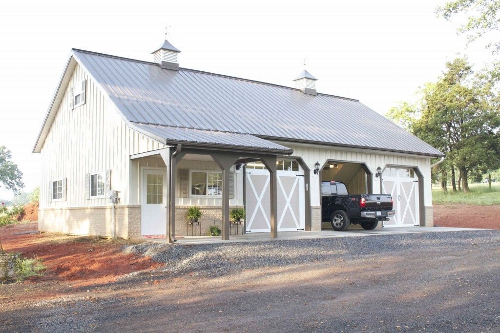 Morton Buildings garage in Hamptonville North Carolina – Barn Style Garage Plans