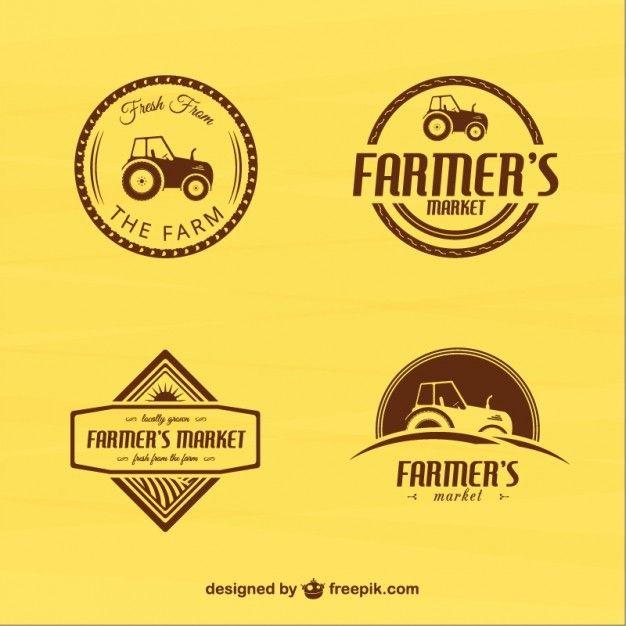 Vintage Farmers Market Badges Free Vector | Farmers market ...