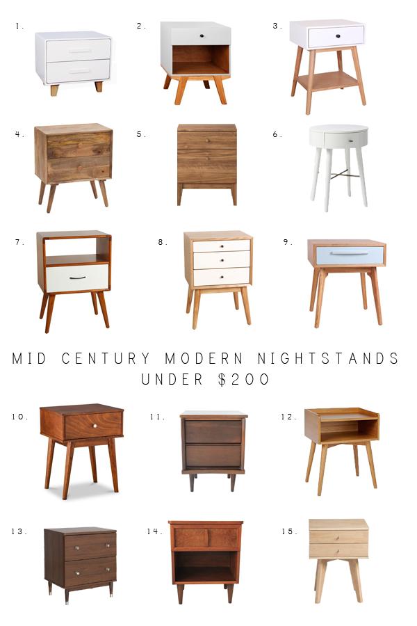 Photo of Mid Century Modern Nightstands Under $ 200 | Brepurposed – mid century modern n … – my blog