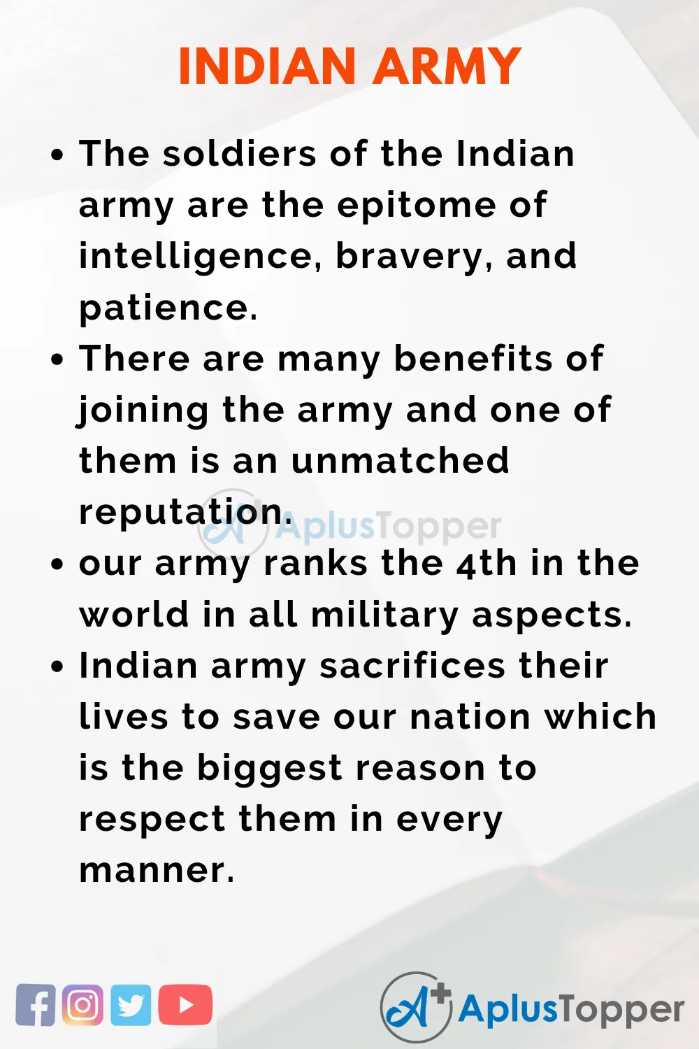 Indian Army Essay For Student And Chilldren In English Essayonindianarmy Indianarmyessay Aplustopper India