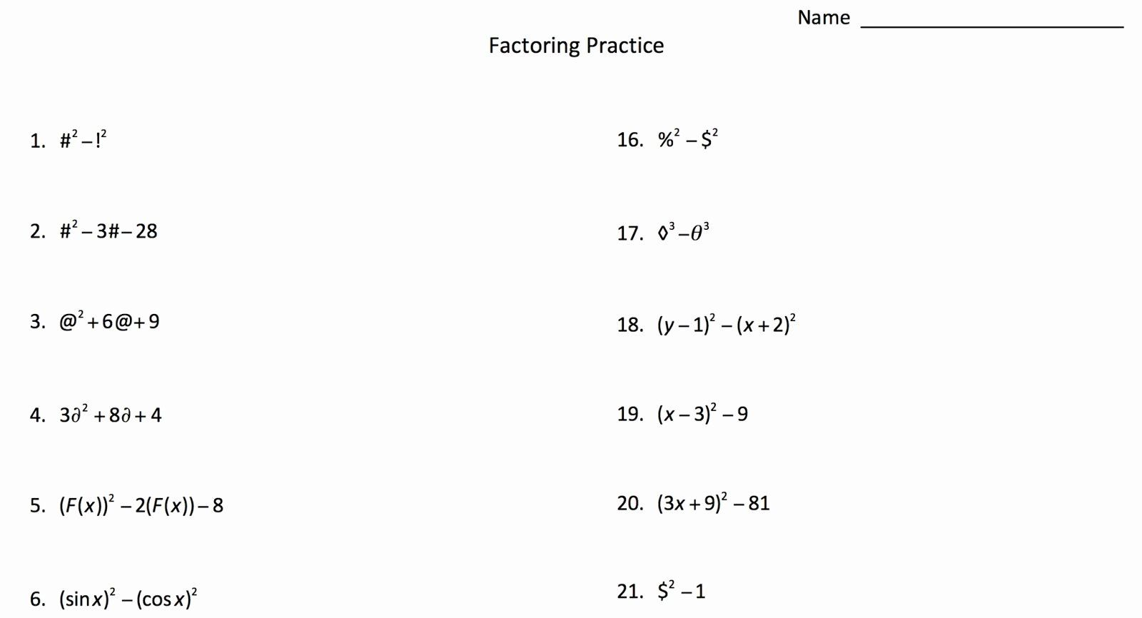 Kuta Software Special Right Triangles Worksheet