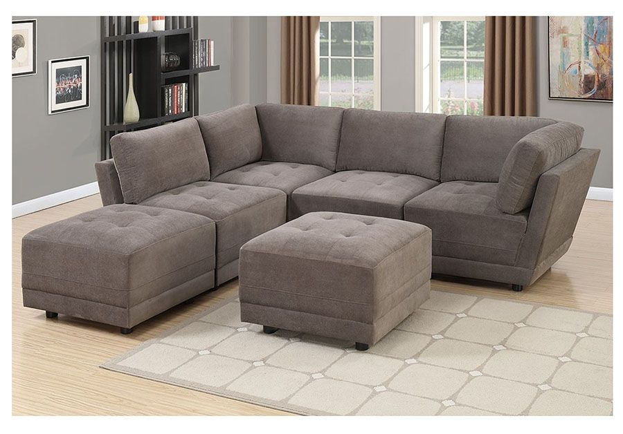 6pcs Modular Sectional Sofa Set Shop For Affordable Home Furniture Decor Outdoors And More Modular Sectional Sofa Sectional Sofa Fabric Sectional Sofas #suede #living #room #set