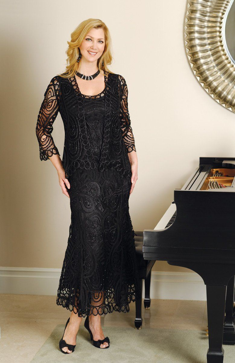Soulmates D7052 Classic HandCrocheted Lace Evening