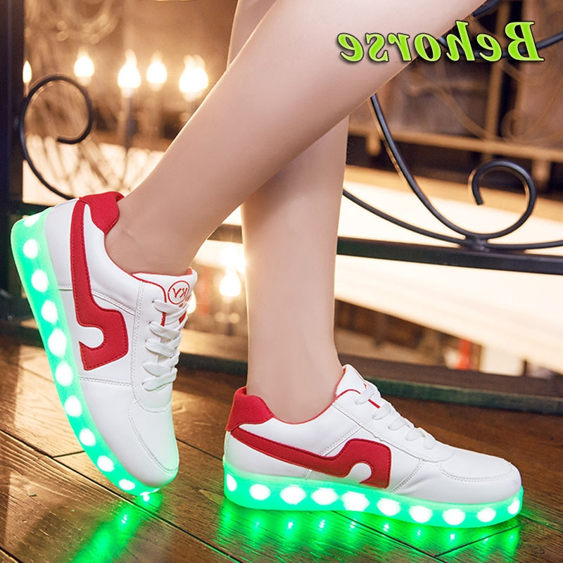 36.29$  Buy here - https://alitems.com/g/1e8d114494b01f4c715516525dc3e8/?i=5&ulp=https%3A%2F%2Fwww.aliexpress.com%2Fitem%2FQuality-7-Colors-Unisex-LED-Shoes-2016-Autumn-Spring-High-Top-Growing-Shoes-For-Adults-Luminous%2F32625553543.html - 7 Colors Unisex LED Shoes 2016 Spring Glowing Shoes For Adults Luminous Lights Up Club Dancing Shoes For Women 36.29$