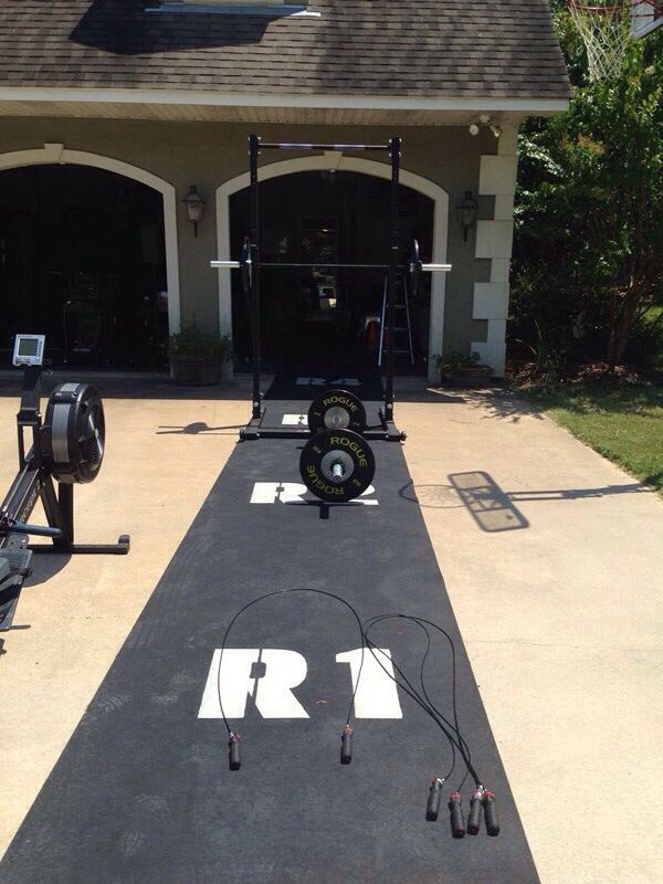 Pin by jenna powell on garage gym backyard gym at home gym