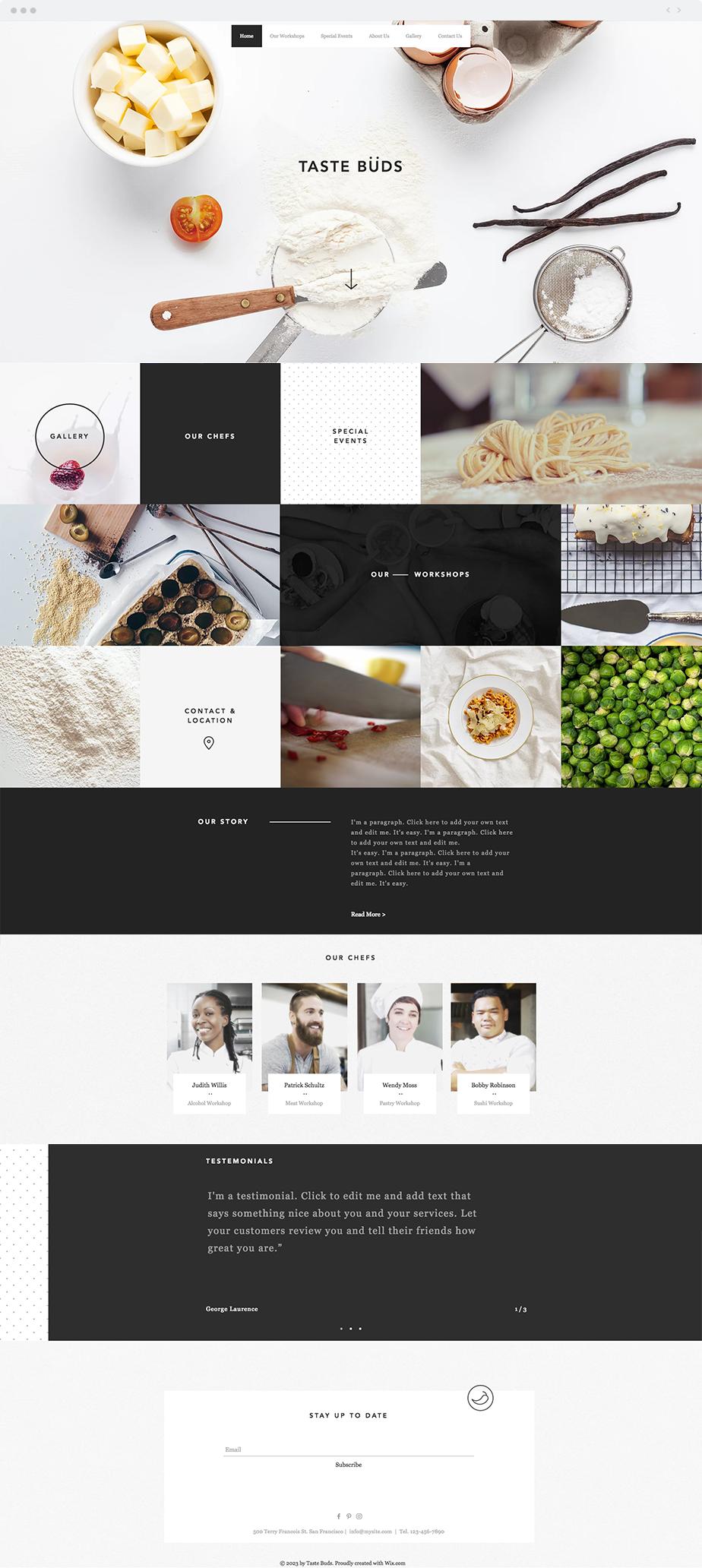 Cooking School Website Template | Wix Website Templates | Pinterest ...