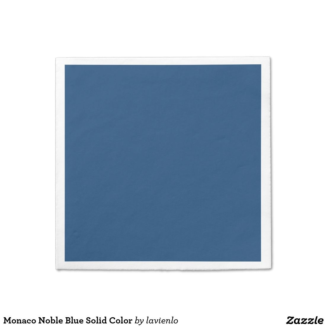 Monaco Noble Blue Solid Color Standard Cocktail Napkin