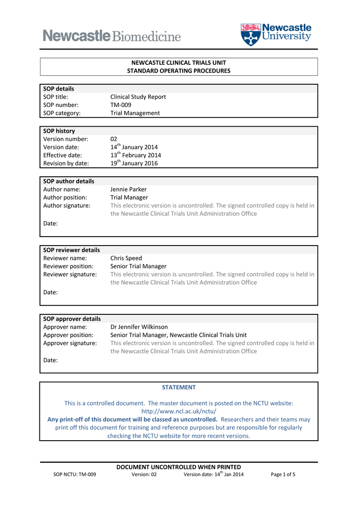 Clinical Trial Report Template (2