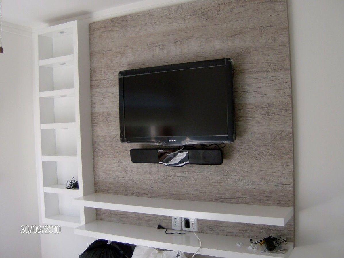 Prateleira Tv Pesquisa Google Ideias Para A Casa Pinterest  ~ Painel Para Tv Moderno Quarto E Quarto Bebe Cinza E Verde
