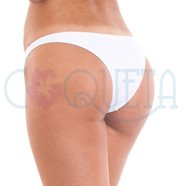 ladies COQUETA swimwear Brazilian Bikini Bottom Hipster Low Rise Swimsuit WHITE #COQUETA #BikiniBottom