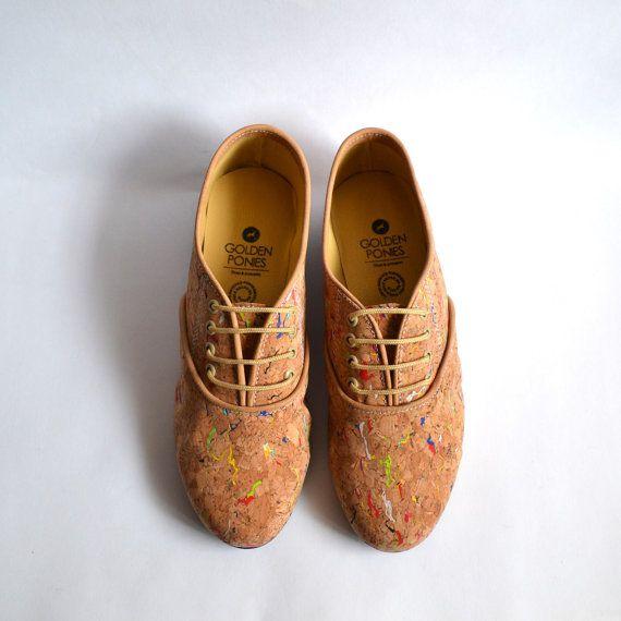 Confetti cork vegan pony oxford shoes