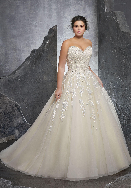 Mori Lee, 3238, Ivory, Sz 22 Available at Debra\'s Bridal ...