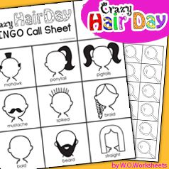 Crazy Hair Day Bingo for the Classroom