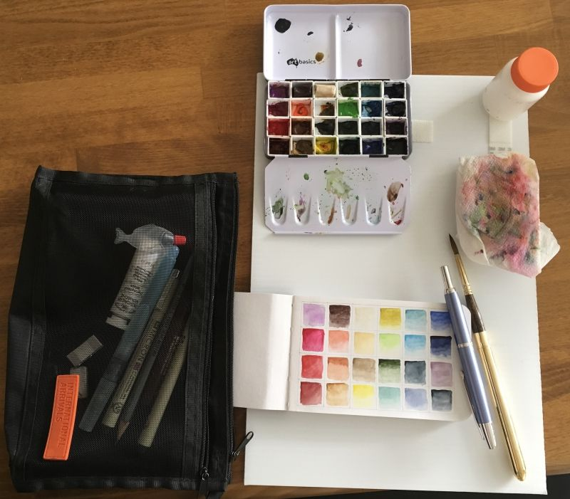 What S In Your Watercolor Travel Kit Wetcanvas Travel Kits