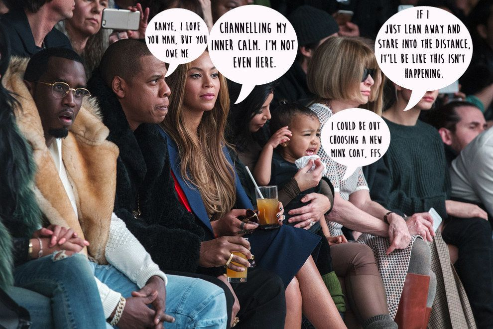 North West Threw A Tantrum At Kanye S Fashion Show And Anna Wintour S Face Was Priceless Kardashian Girls Beyonce Kanye West