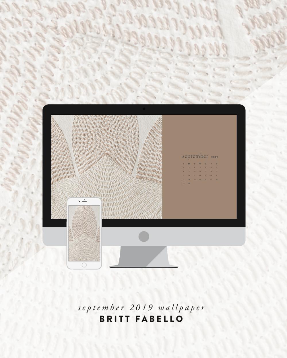 Wallpaper: September 2019 Calendar & Artwork — Britt Fabello