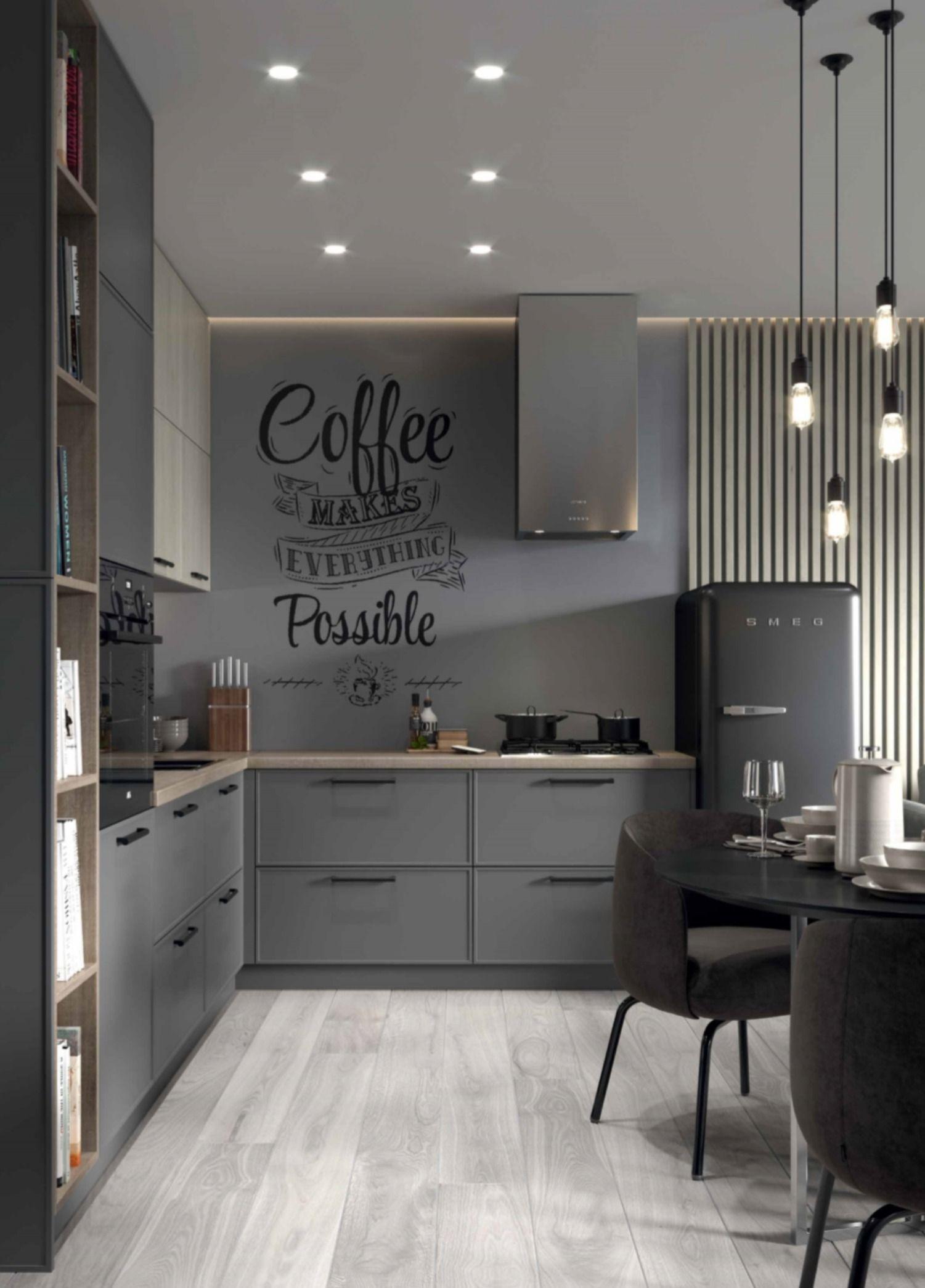 Hagen Onyx Grey Dark Kitchen Kitchen Cabinets Kitchen
