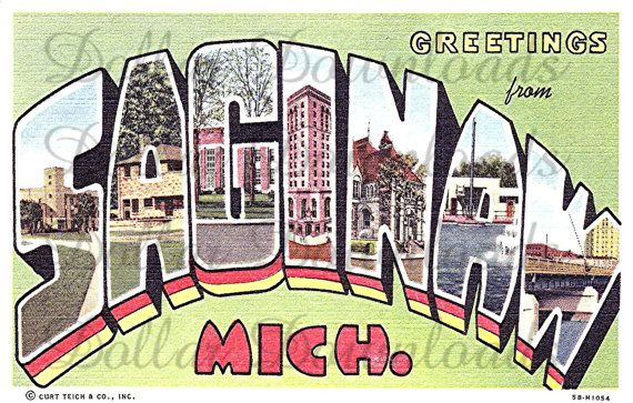 Greetings From Saginaw Michigan Large Letter By Dollardownloads